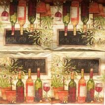 """Салфетка 33*33 см """"Вино"""" - Кухонная тематика и еда"""