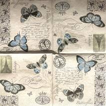 "Салфетка 33*33 см ""Бабочки"" - Города и пейзажи"