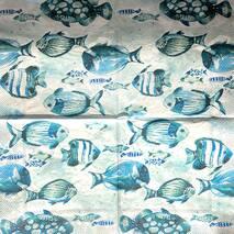 """Салфетка 33*33 см """"Рыбки"""" - Флора и фауна"""