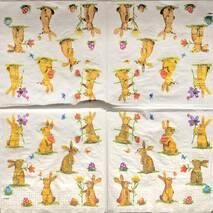 "Салфетка 33*33 см ""Кролики"" - Флора и фауна"