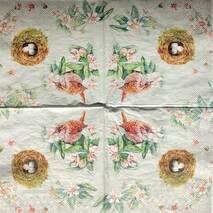 """Салфетка 33*33 см """"Птица и гнездо"""" - Флора и фауна"""