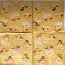 """Салфетка 33*33 см """"Ангелы на золотом фоне"""" - Свадебное и любовь"""