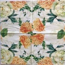 """Салфетка 33*33 см """"Оранжевые цветы"""" - Флора и фауна"""