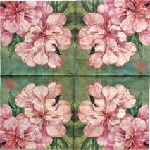 """Салфетка 33*33 см """"Розовые цветы"""" - Флора и фауна"""