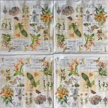 """Салфетка 33*33 см """"Растения"""" - Флора и фауна"""