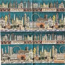 """Салфетка 33*33 см """"Лондон"""" - Города и пейзажи"""