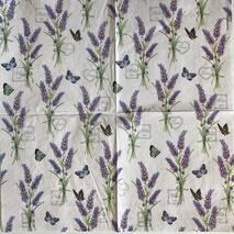 """Салфетка 33*33 см """"Лаванда и бабочки"""" - Флора и фауна"""