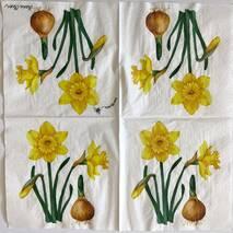 """Салфетка 33*33 см """"Нарцисс и луковица"""" - Флора и фауна"""