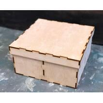 Шкатулка квадратная с 4-мя отсеками - Шкатулки
