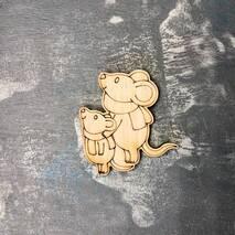 """Миниатюра """"Две мышки"""" - Фигурные заготовки"""