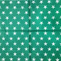 """Салфетка 33*33 см """"Звезды на зеленом фоне"""" - Салфетки для декупажа"""