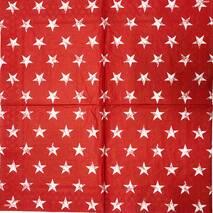 "Салфетка 33*33 см ""Звезды на красном фоне"" - Салфетки для декупажа"