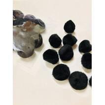 Помпон для творчества 20 мм, черный, 50 штук - Фетр