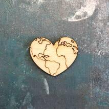 """Миниатюра """"Карта в сердце"""" - Фигурные заготовки"""