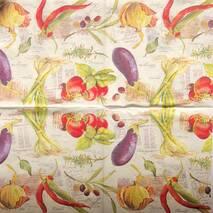 """Салфетка 33*33 см """"Овощи"""" - Кухонная тематика и еда"""