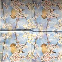 """Салфетка 33*33 см """"Птица на фоне неба"""" - Флора и фауна"""