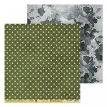 Бумага для скрапбукинга «Армейские звёзды», 30.5 × 32 см, 190 г/м - Бумага для скрапбукинга