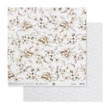 Бумага для скрапбукинга «Нежные свадебные цветы», 30.5 × 32 см, 190 гм - Бумага для скрапбукинга