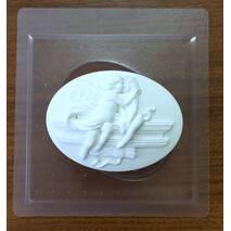 """Пластиковая форма для мыла """"Камея поцелуй ангела"""" - Для моделирования"""