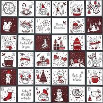 "Салфетка 33*33 см ""Рождественские картинки"" - Салфетки"