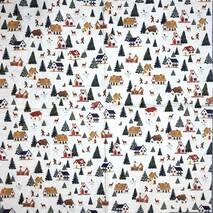 "Салфетка 33*33 см ""Мелкие домики и елки"" - Салфетки"