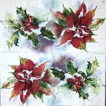 "Салфетка 33*33 см ""Рождественский цветок"" - Салфетки"
