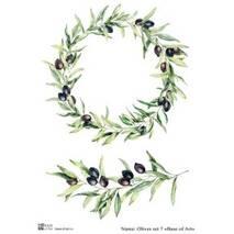 """Декупажная карта A4 """"Base of Art"""" Olives set 7 - Декупажные карты"""