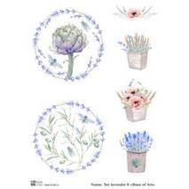 "Декупажная карта A4 ""Base of Art"" Set lavender 8 - Декупажные карты"