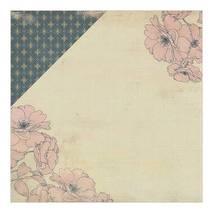 """Бумага для скрапбукинга, 15 х 15 см, """"Цветочная страна/цветочный фон"""", Authentique - Двухсторонняя скрап бумага"""