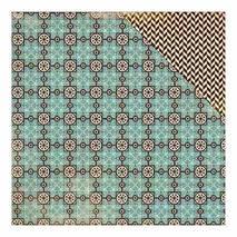 "Бумага для скрапбукинга, 15 х 15 см, ""Мозаика/ёлочка"", Authentique - Двухсторонняя скрап бумага"