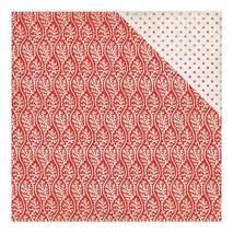 """Бумага для скрапбукинга, 30,5 х 30,5 см, """"Полоски коралла/красные звезды на белом фоне"""",  Authentique - Двухсторонняя скрап бумага"""