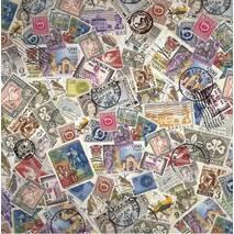 """Рисовая салфетка """"Почтовые марки"""", 50х50 см - Декупажные карты"""