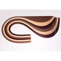 Бумага для квиллинга, №02, БЕЖЕВО-КОРИЧНЕВЫЙ МИКС, 5 мм, 150 полос - Бумага