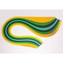 Бумага для квиллинга, №05, ЖЕЛТО-ЗЕЛЕНЫЙ МИКС, 5 мм, 150 полос - Бумага