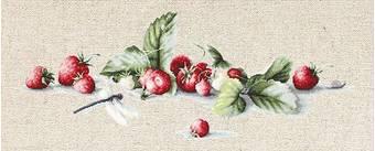 Набор для вышивания «Этюд с клубникой», 37х14 см - Вышивка