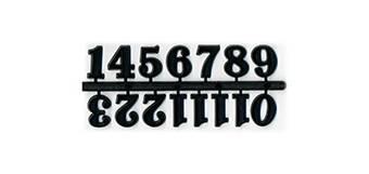 Набор цифр для часов 20 мм черный арт.TT0002 - Основы для часов