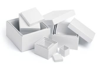Коробка картонная, КВАДРАТНАЯ - Заготовки