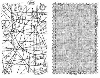 """Набор силиконовых штампов, """"Текстильный фон"""", 14х18 см - Штампы"""