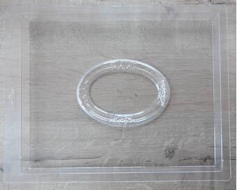 """Пластиковая форма """"Овальная рамка"""" - Для моделирования"""