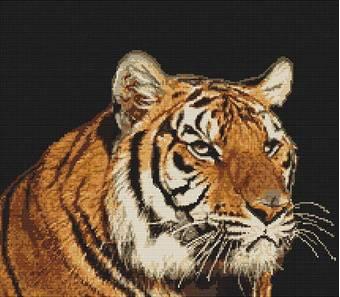 Набор для вышивания «Тигр», 30,5х23 см - Вышивка