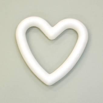 Контур сердца пенопластовый, 15 см - Заготовки из пенопласта