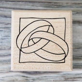 """Штамп резиновый """"Обручальные кольца"""", 4х4 см - Штампы"""