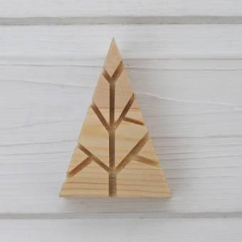 """Деревянный штамп """"Дерево"""", 48х70 мм - Деревянные штампы"""
