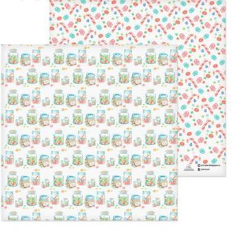 """Бумага для скрапбукинга, 29,5*29,5 см, """"Сладкие баночки"""", двухсторонняя Арт узор - Бумага для скрапбукинга"""