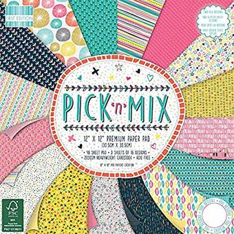 Бумага для скрапбукинга из набора First Edition - Pick N Mix, 30,5х30,5 см - Бумага для скрапбукинга