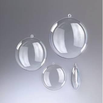 Пластиковый медальон прозрачный,7 см - Заготовки из пластика