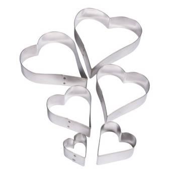 """Набор каттеров для полимерной глины Rayher, """"Сердце"""", 6 шт. - Инструменты"""