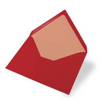 Конверт C6, красный - Заготовки