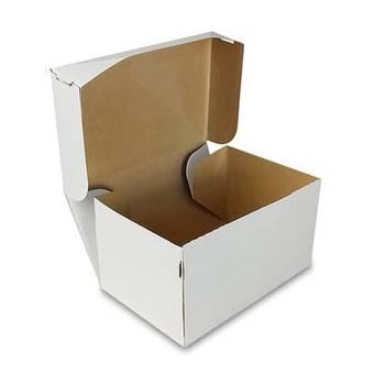 Коробка картонная белая, 150х100х85 мм - Упаковка