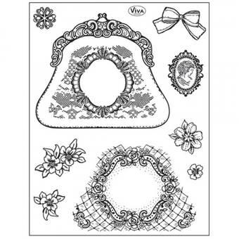 """Набор силиконовых штампов, """"Кошелек"""", 14х18 см - Штампы"""